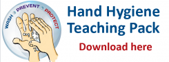 Teaching aids for hand hygiene training